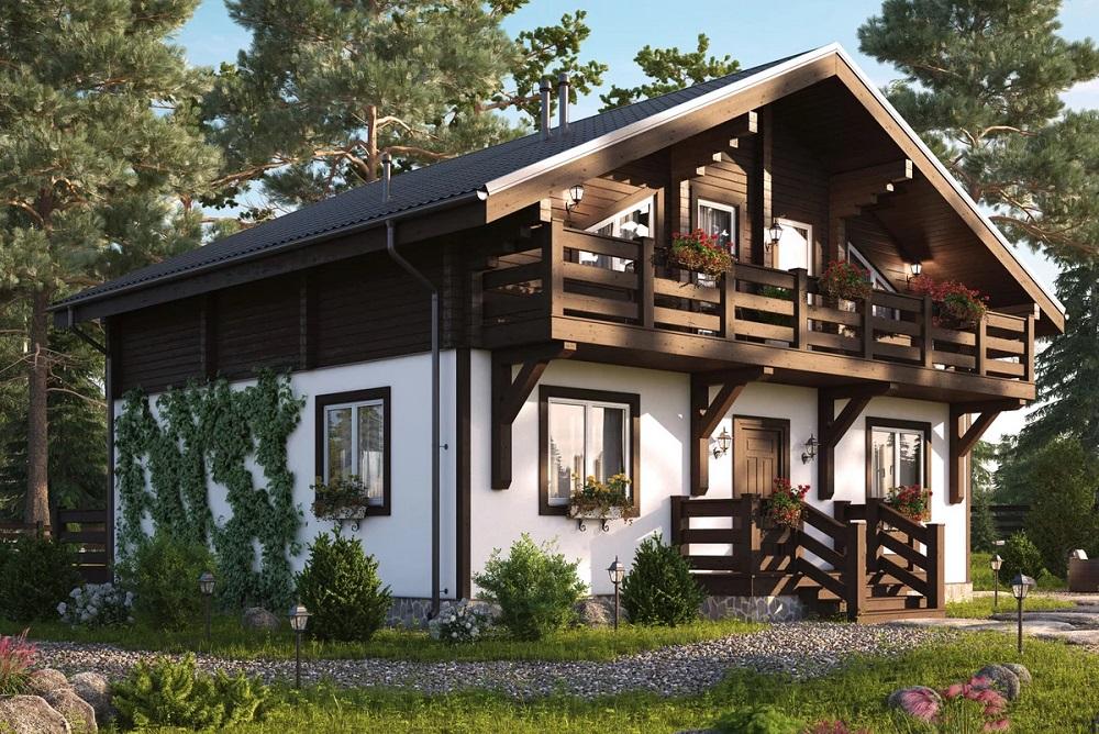Комбинированный дом из газобетона и дерева: особенности и варианты конструкции